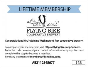 Lifetime Membership Redemption Card